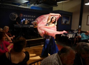 Belly Dancing heats up the room every Thursday through Saturday at Athenian Corner.