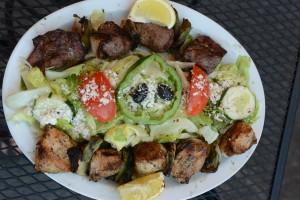 Taste the Mediterranean with Athenian's kebobs.